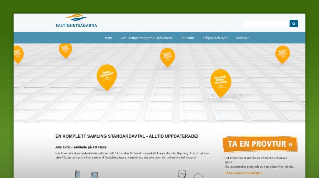 skärmdump från Fastighetsägarna Dokuments webbplats