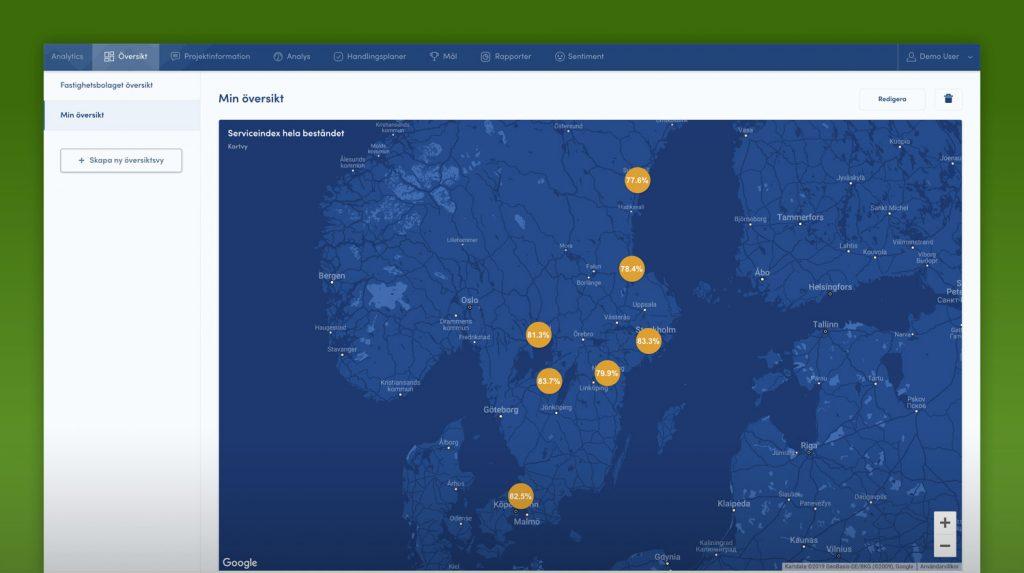 Skärmavbild från AktivBos verktyg