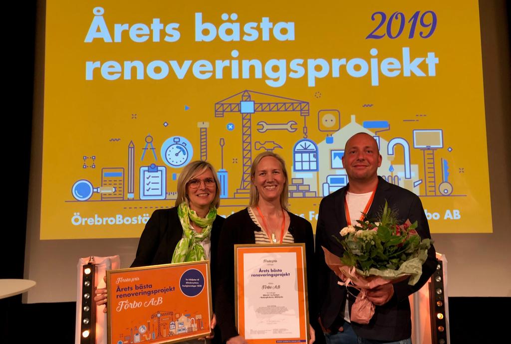Förbo Vinner Pris För årets Bästa Allmännyttiga Renovering