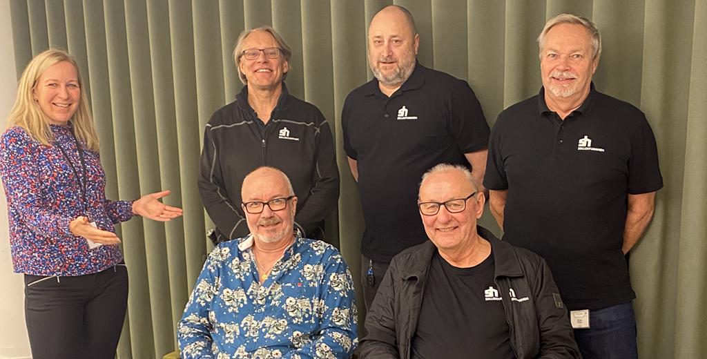 Anna Mellström, vd tillsammans med Johan Stranneryd, Björn Olsson, Urban Olsson, Lars-Göran Andersson och Bengt Andersson på Sollentunahem.