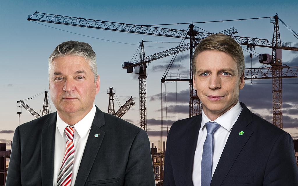 Fotomontage (fotograf till bilden till höger: Kristian Pohl/Regeringskansliet)