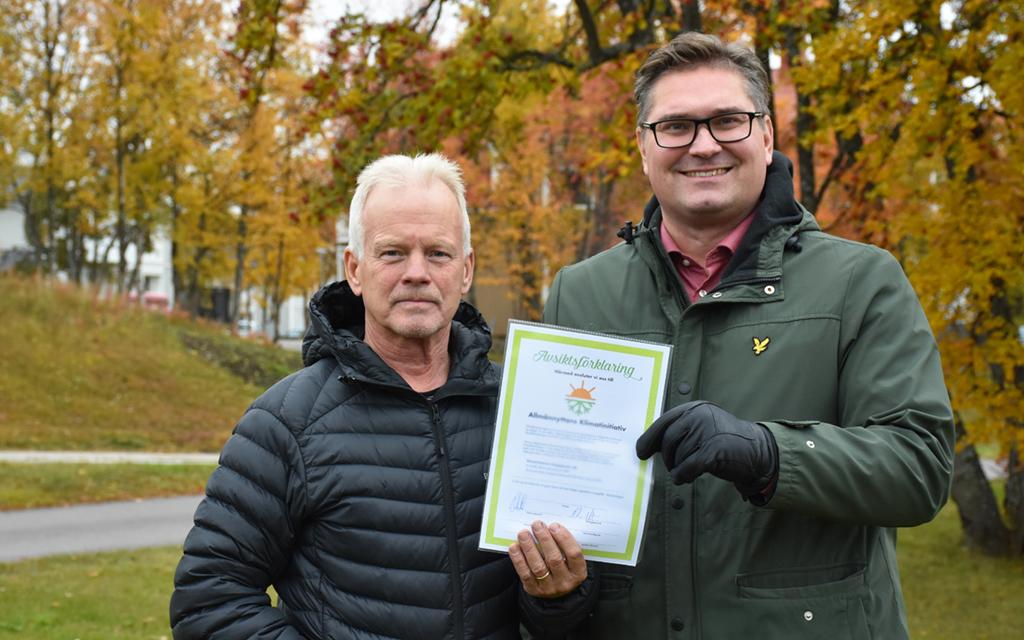 Mats Dahlberg, VD och Stefan Sydberg, styrelseordförande i Kirunabostäder.